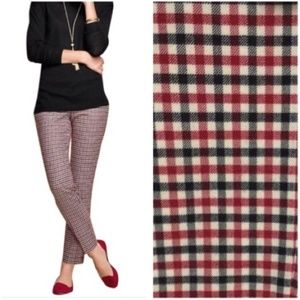 Talbots Hampshire Wool Ankle Pants Gingham 14P NEW